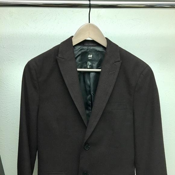 6ef5f15ad3dd04 H&M Suits & Blazers   Hm Slim Fit Dark Purple Blazer Suit Jacket 34r ...